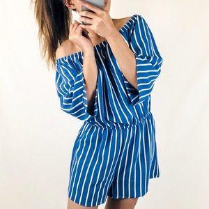 Blue stripe Summer Romper